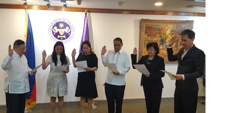 Top DOF execs take oath before Dominguez