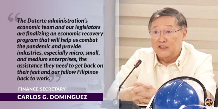 Dominguez proposes 5 priority measures to restart economy