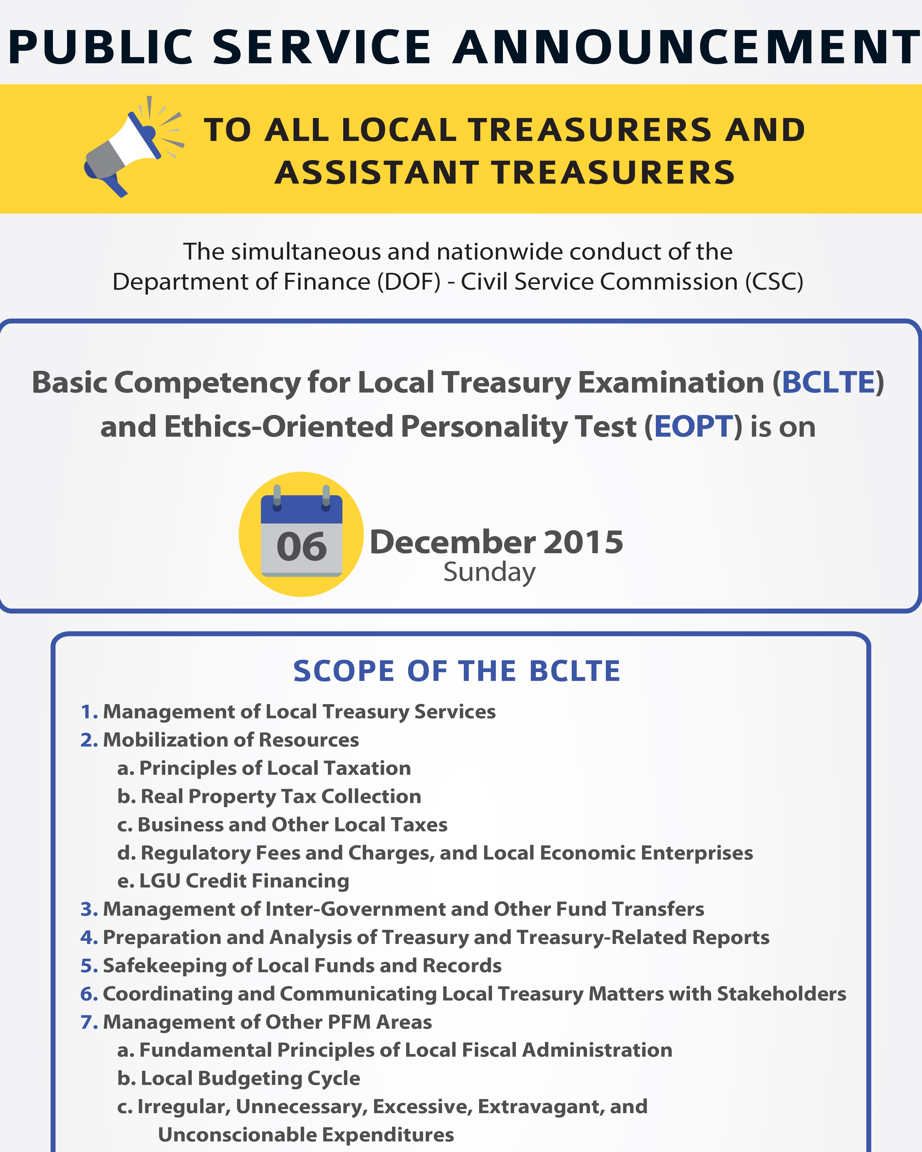 Scope Of Treasurers Exam
