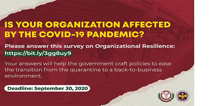 UP Mindanao survey on Organizational Resillience